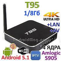 T95 Amlogic S905 Android 5.1 TV приставка IPTV UltraHD 4K Sunvell