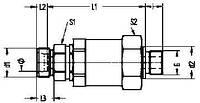Прямое поворотное резьбовое штуцерное соединение на подшипниках скольжения - GEDVV - R - WD