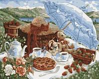KHO 2201 Утренний пикник Роспись по номерам на холсте (без коробки) 40х50см