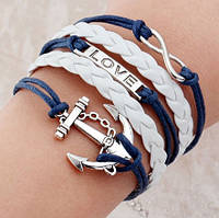 Стильный женский браслет. Якорь
