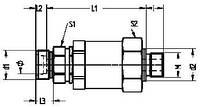 Прямое поворотное резьбовое штуцерное соединение на подшипниках скольжения - GEDVV - M - WD