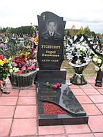 """Одиночный памятник с надгробной плитой """"Ветеран"""""""