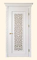 Двери деревянные в стиле прованс со вставкой перфоррации