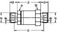 Прямое поворотное резьбовое штуцерное соединение на подшипниках скольжения - GDVV