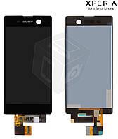 Дисплейный модуль (дисплей + сенсор) для Sony Xperia M5, черный, оригинал