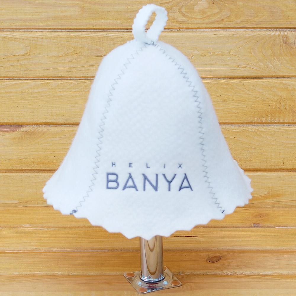"""Шапка банная с логотипом """"Helix BANYA"""""""