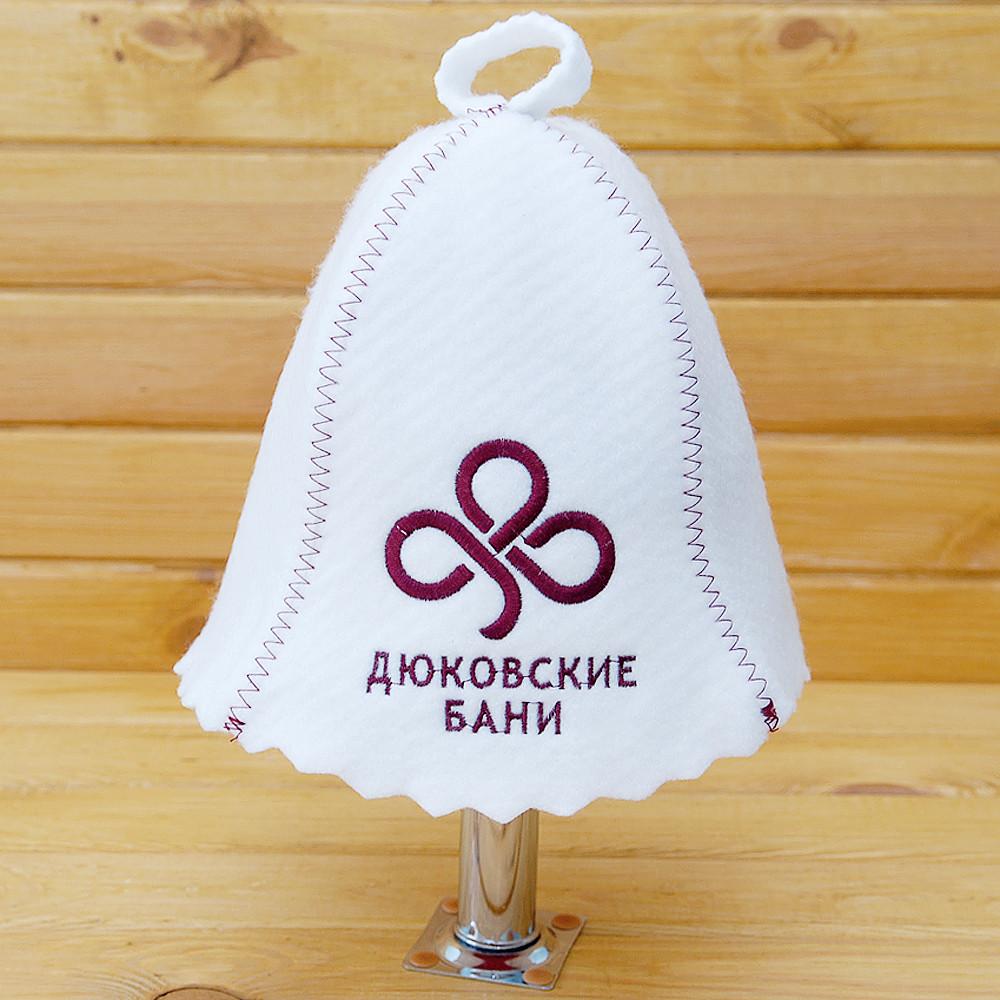 """Банна Шапка з логотипом """"Дюковський лазні"""""""