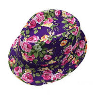 Шляпа детская в цветы.