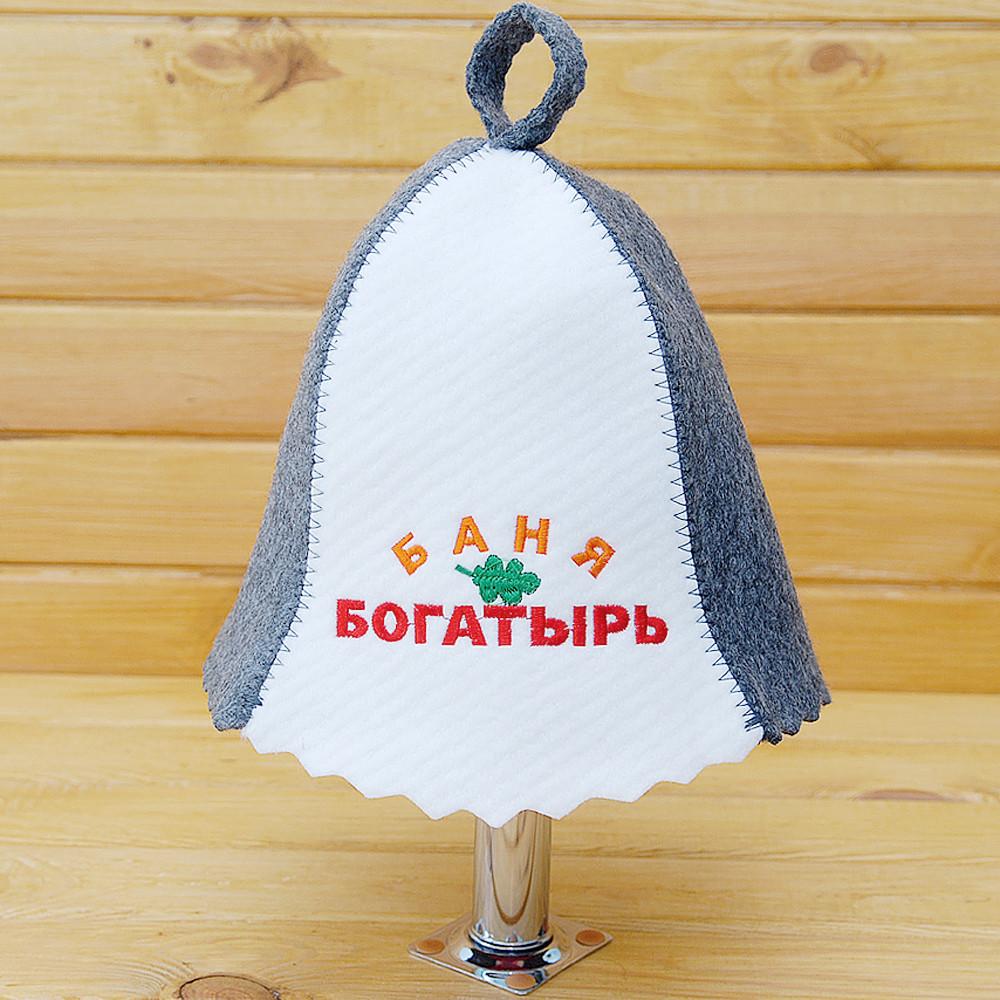 "Банна Шапка з логотипом ""Лазня Богатирь"""