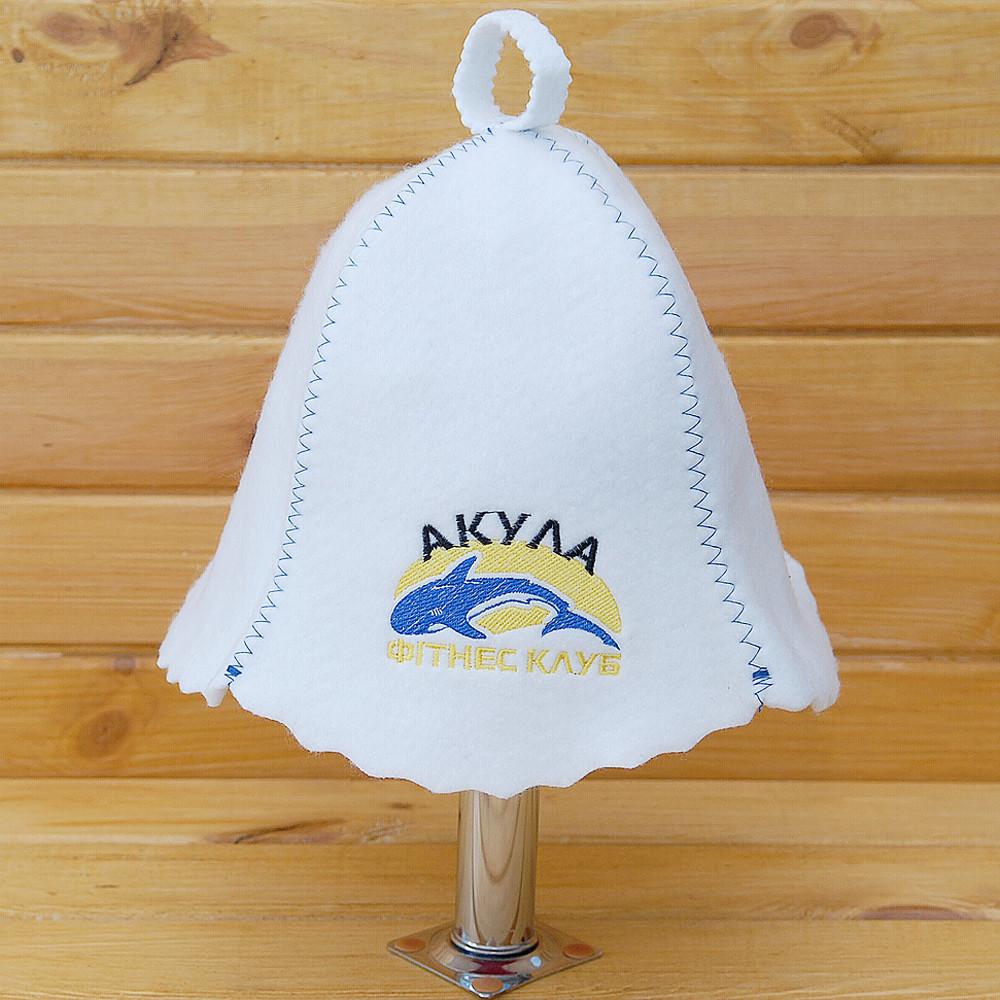 "Шапка банная с логотипом ""Акула"""