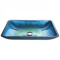 Голубая стеклянная раковина  GVR-204-RE-15mm