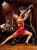 Раскрашивание по цифрам VK047 В ритме танго (30 х 40 см) Турбо