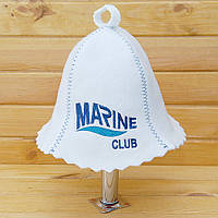 "Шапка банная с логотипом ""Marine club"""