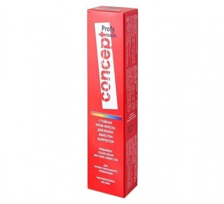 0.00/A коректор щелочной Concept PROFY Touch Стійка Крем-фарба для волосся 60 мл.