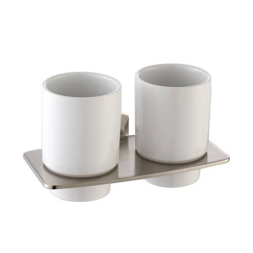 Пара керамических стаканов с настенным держателем Fortis KEA-13316BN
