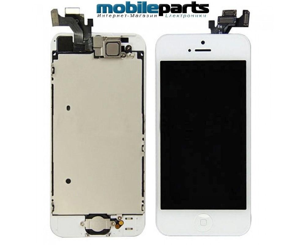 Оригинальный Дисплей (Модуль) + Сенсор (Тачскрин) для Apple iPhone 5 (Белый)