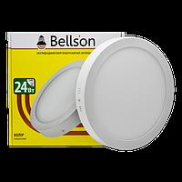 """Светодиодный светильник 24W """"круг"""" накладной Bellson"""