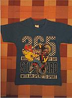 Детская футболка на мальчика (на мотоцикле) 3-7 лет