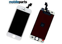Дисплей (Модуль) + Сенсор (Тачскрин) для Apple iPhone 5S (Белый) (Оригинал Китай, Tianma)