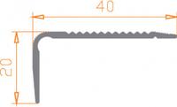 Алюминиевый порог 40*20 / БП