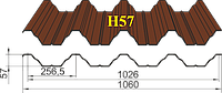 Профнастил Н57