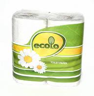 """Туалетная бумага """"ECOLO"""" белая 2х слойная (ECO1)"""