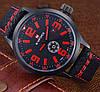 Кварцевые часы Naviforce (black-red) - гарантия 12 месяцев, фото 2