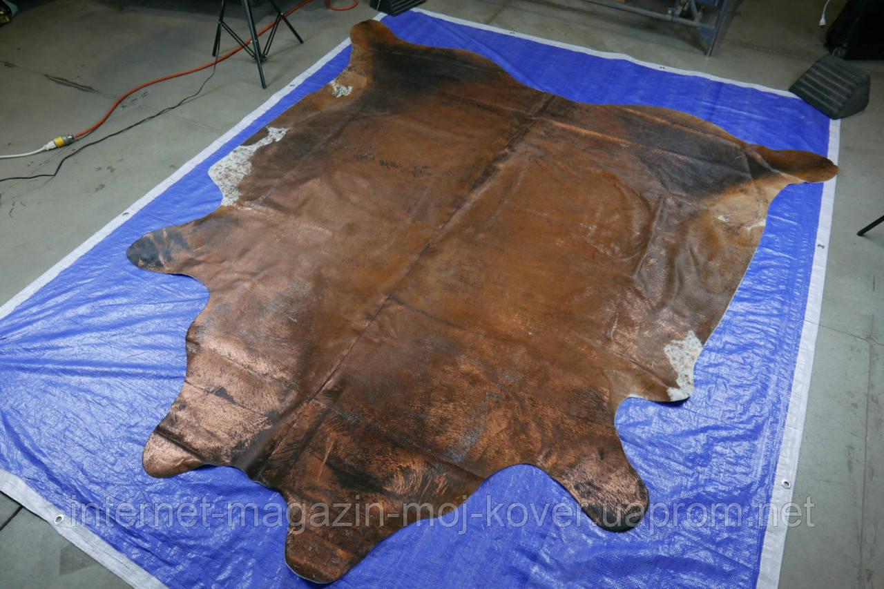Шкура с медным напылением под старину, экзотические напольные шкуры для интерьера