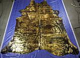 Екзотична коров'яча шкіра чорного кольору з потертостями золотом Харкові, фото 2