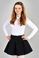 Молодежная короткая юбка из неопрена для школы