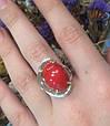 Серебряные серьги с яшмой и золотом 34525, фото 4