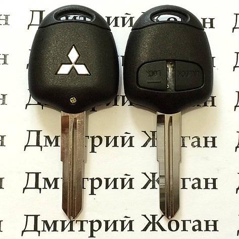 Корпус ключа для MITSUBISHI Lancer, ASX, Outlander XL (Митсубиси Ланцер, Аутлендер) 2 - кнопки, лезвие MIT11R, фото 2