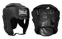 Шлем боксерский с полной защитой PU ELAST BO-4299-BK (черный, р-р S-L)