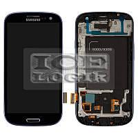 Дисплей для мобильных телефонов Samsung I9300i Galaxy S3 Duos, I9301 Galaxy S3 Neo, синий, с передне