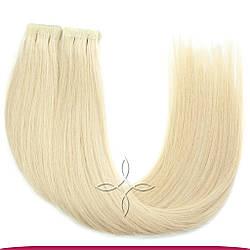 Волосы на Лентах с Иммитацией Роста Волос 55-60 см 100 грамм, Блонд №60
