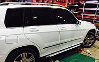 Mercedes GLK Боковые пороги Allmond Grey