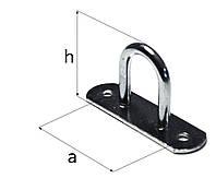 Бортовая скоба вертикальная(основание прямоуг)