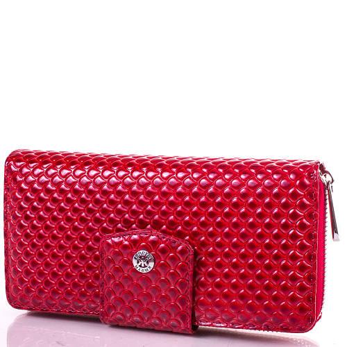 Женский яркий кожаный кошелек KARYA (КАРИЯ) SHI1119-1KAP Красный