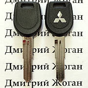 Корпус ключа под чип для MITSUBISHI Lancer, ASX, Outlander XL (Митсубиси Ланцер, Аутлендер), лезвие MIT11R