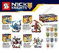 Конструктор Nexo Knights, 4 вида, в упаковке 8 шт.(цена за 1 шт.) (ОПТОМ) SY721ABCD