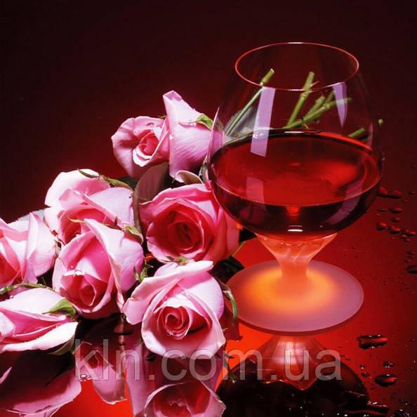 Алмазная вышивка Вино и розы KLN 30 х 30 см (арт. FS209) полное заполнение
