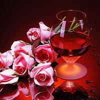 Алмазная вышивка Вино и розы KLN 30 х 30 см (арт. FS209) полное заполнение, фото 1