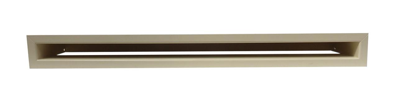 Решетка каминная люфт (ширина 9 см), кремовая