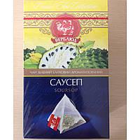 Чай ТМ Верблюд зеленый 20 пирамидок с саусепом