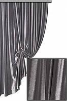 Ткань   Бархат однотонный серый