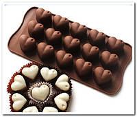 Сердце с каплей форма для заливки десертов  и шоколада силикон  малые