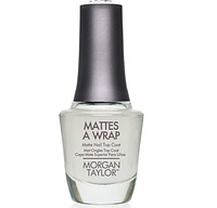 Лак для ногтей Morgan Taylor Mattes A Wrap - матовое верхнее покрытие