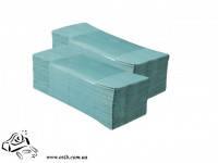 Бумажное полотенце листовое Z-обр 150 шт зеленый