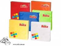 Салфетки бумажные Рута 33x33 200 шт красные