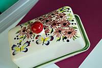 Масленка керамическая с бабочками